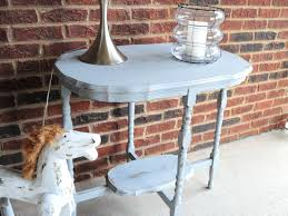 Make Outdoor End Table by Make Your Own Chalk Paint Diy Refinished End Table