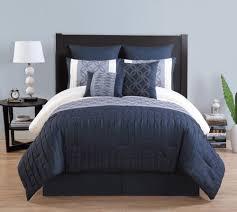 Blue King Size Comforter Sets 8 Piece Embroidered Comforter Set Finley