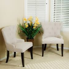 Fabric Living Room Chairs Accent Chairs Set Of 2 Fashionable Studded Fabric