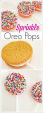 quick and easy sprinkle oreo pops diy oreo pops dessert table