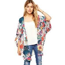 cardigan kimono sunward flower chiffon shawl kimono cardigan coats jackets cover