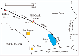 San Andreas Fault Line Map Paleo U0026 Geo Topics Comments By R L Squires San Andreas Fault