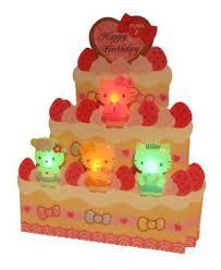buy hello kitty birthday cake lights u0026 melody pop up greeting card