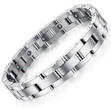 man titanium bracelet images New fashion design hematite men titanium steel bracelet boys hand jpg