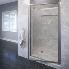 Shower Door Width Basco Deluxe 36 In X 70 1 2 In Framed Pivot Shower Door In