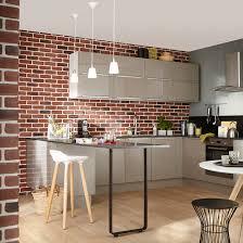cuisine en brique plaquette de parement plâtre chelsea mur brique indus