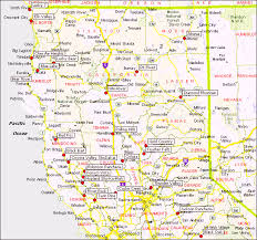 map of cities in california california map northern cities