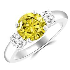 canary engagement ring 2 carat canary yellow 3 engagement ring