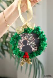 diy pom pom wreath photo ornament this is our bliss