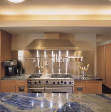 stainless steel backsplashes for kitchens stainless steel backsplash kitchen contemporary with shaker door