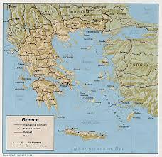 greece map political greece maps perry castañeda map collection ut library