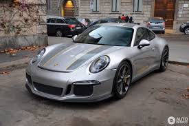porsche panamera turbo 2017 silver gt silver 2017 porsche 911 r with yellow accents looks the part