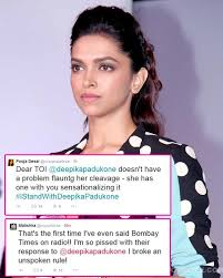 5 Deepika Padukone Controversies That Stunned Bollywood - deepika padukone gets sympathy and support from fans over cleavage