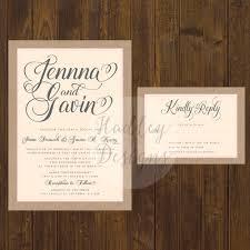 Rustic Wedding Invitations Cheap Hadley Designs Rustic
