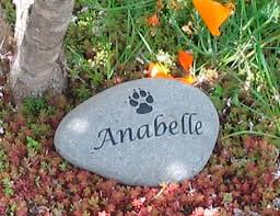 personalized memorial stones personalized pet memorial stones say it in stones