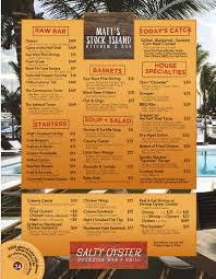 matt u0027s stock island kitchen u0026 bar u2013 salty oyster dockside bar