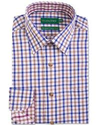 double two men u0027s blue and brown check formal shirt