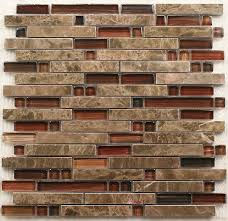 Interlocking Stone Mosaic Tiles Glass Mosaic Kitchen Backsplash - Stone glass mosaic tile backsplash