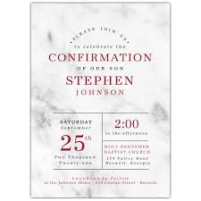 confirmation invitation marble effect confirmation invitations paperstyle