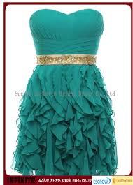 aquamarine bridesmaid dresses cheap aquamarine real photo strapless ruffled sleeveless chiffon