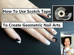 diy tutorial how to use a scotch tape to create nail art designs