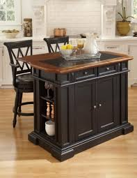 classic kitchen area with wooden black painted kitchen island set