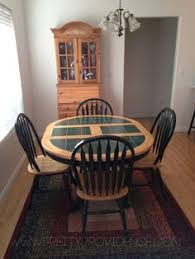 Cottage Table Makeover Tile Top Tables Tile Tables And House - Tile top kitchen table and chairs