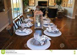 dining room table setting dining room table setting stock photo image 79386259