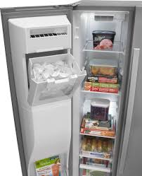 whirlpool under cabinet ice maker whirlpool wrs576fidm 36 inch side by side refrigerator with 25 6 cu