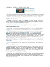 What Is In Law Unit Dealing With Problems California Mold Law Docshare Tips