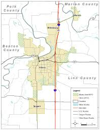 Sweet Home Oregon Map by Albany Area Metropolitan Planning Organization Ocwcog
