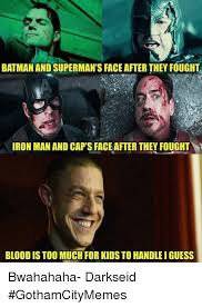 Iron Man Meme - batman and superman s faceafter they fought iron man and caps face