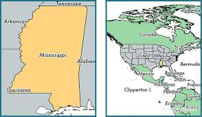 on a map where is mississippi state where is mississippi located in the