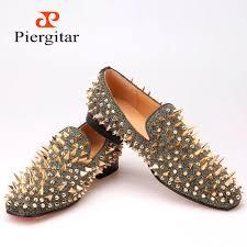 wholesale new handmade long gold rivet men red bottom loafers