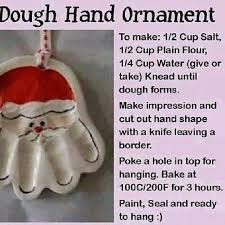 dough handprint ornament flour salt water shape it bake it
