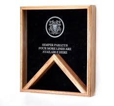 Military Flag Case Military Emblem Engraved Flag And Medal Shadow Box Usflagcases Com