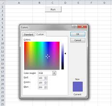 excel vba color dialog xldialogeditcolor vba and vb net