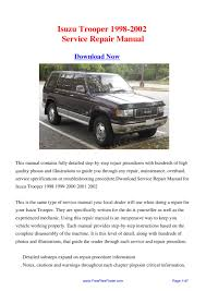 2000 isuzu rodeo service manual 100 images 30 best service