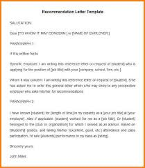 7 letter of recommendation for employment from an employer