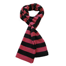 premium soft knit striped bar scarf diff colors red gray blue