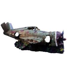 large plane crash wreck aquarium ornament fish tank decoration
