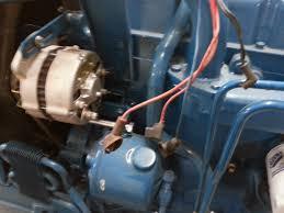ford 6610 wiring a alternator