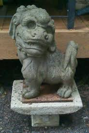 foo dog statue vintage cement foo dog statue collectors weekly