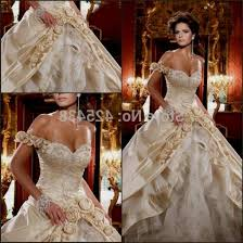 gold wedding dresses white and gold wedding dresses naf dresses