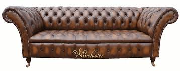 Chesterfield Sofa Antique Chesterfield Balmoral 3 Seater Sofa Settee Antique Tan Leather