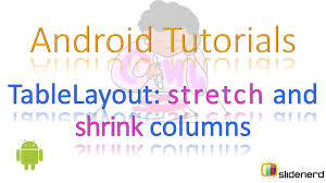 xamarin android table layout 64 android table layout stretch shrink columns youtube
