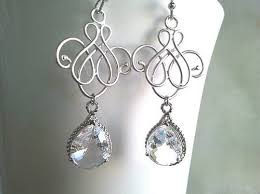 silver chandelier earrings royal flower with silver chandelier earrings