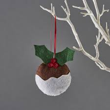 mini pudding christmas decoration children u0027s craft kits from