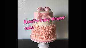 diy how to make a rosette baby shower cake youtube