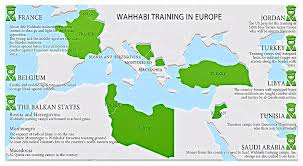 Religious Map Of Europe by 19 October 2013 Vor Infographic Wahhabi Training In Europe